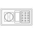 Electronic keypad vector image vector image