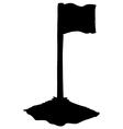 soccer corner flag vector image vector image