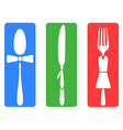 creative fork knife spoon set vector image vector image