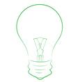 Line Art of Lightbulb vector image