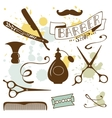 Set of vintage barber shop and hairdresser vector image vector image