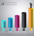 Abstract 3D digital graph infographic for business vector image