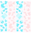 background with icons for newborn vector image