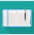 Flat notepad Modern web icon vector image