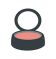 isolated blush makeup vector image