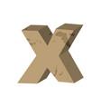 letter x stone font rock alphabet symbol stones vector image