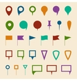 Map navigation pin pointer symbols vector image