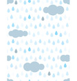 rain and clouds vector image