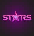 Stars logotype fashion style concept vector image