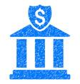bank icon grunge watermark vector image