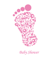 foot with baby icons vector image