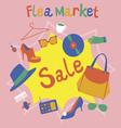 Flea market Garage sale vector image
