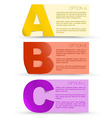 progress background with three steps vector image vector image