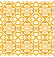seamless pattern of stylized flowers and geometric vector image vector image