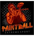 Paintball Team - extreme sport vector image vector image