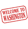 Washington - welcome red vintage isolated label vector image