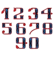 a set of numbers in the Celtic style vector image