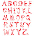 dragon alphabet fantasy dragon font vector image