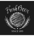 Fresh beer chalk badge vector image