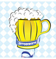 Oktoberfest background Bavarian pattern beer vector image