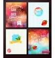 Wedding card templates on abstract backgrounds vector image