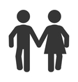 couple relationship pictogram icon vector image