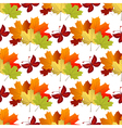 White autumn seamless pattern vector image vector image