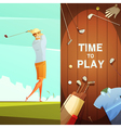 Golf 2 Retro Vertical Banners Set vector image