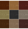 Nine color wood texture background vector image