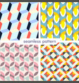 set of four seamless geometrical patterns vector image