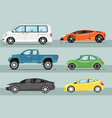 modern city car isolated set vector image