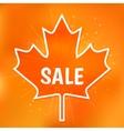 Autumn sale vector image vector image