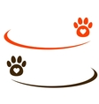 decorative background with paw vector image