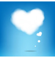 Cloud From Hearts With Blue Background vector image vector image