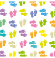 Background footprints baby vector image