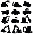 construction vehicle black silhouette vector image