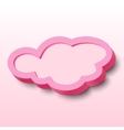 3d cloud frame vector image