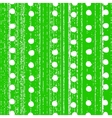 The pattern with white polka dots vector image