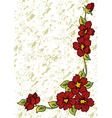 Abstract floral corner vector image