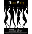 disco party flyer closeup of legs dancing vector image