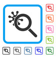explore virus framed icon vector image