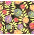 Floral seamless pattern flowers with vector image