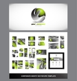 Green metal sphere corporate identity logo vector image