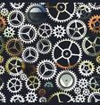 metal color clockwork seamless pattern vector image