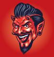 smilling devil head vector image