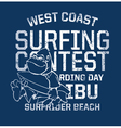 West Coast surfing contest vector image