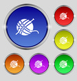 Yarn ball icon sign Round symbol on bright vector image