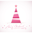 Modern Merry Christmas stylized Christmas vector image