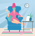 Working from home vector image