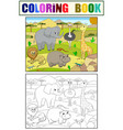animals of africa savanna coloring for vector image